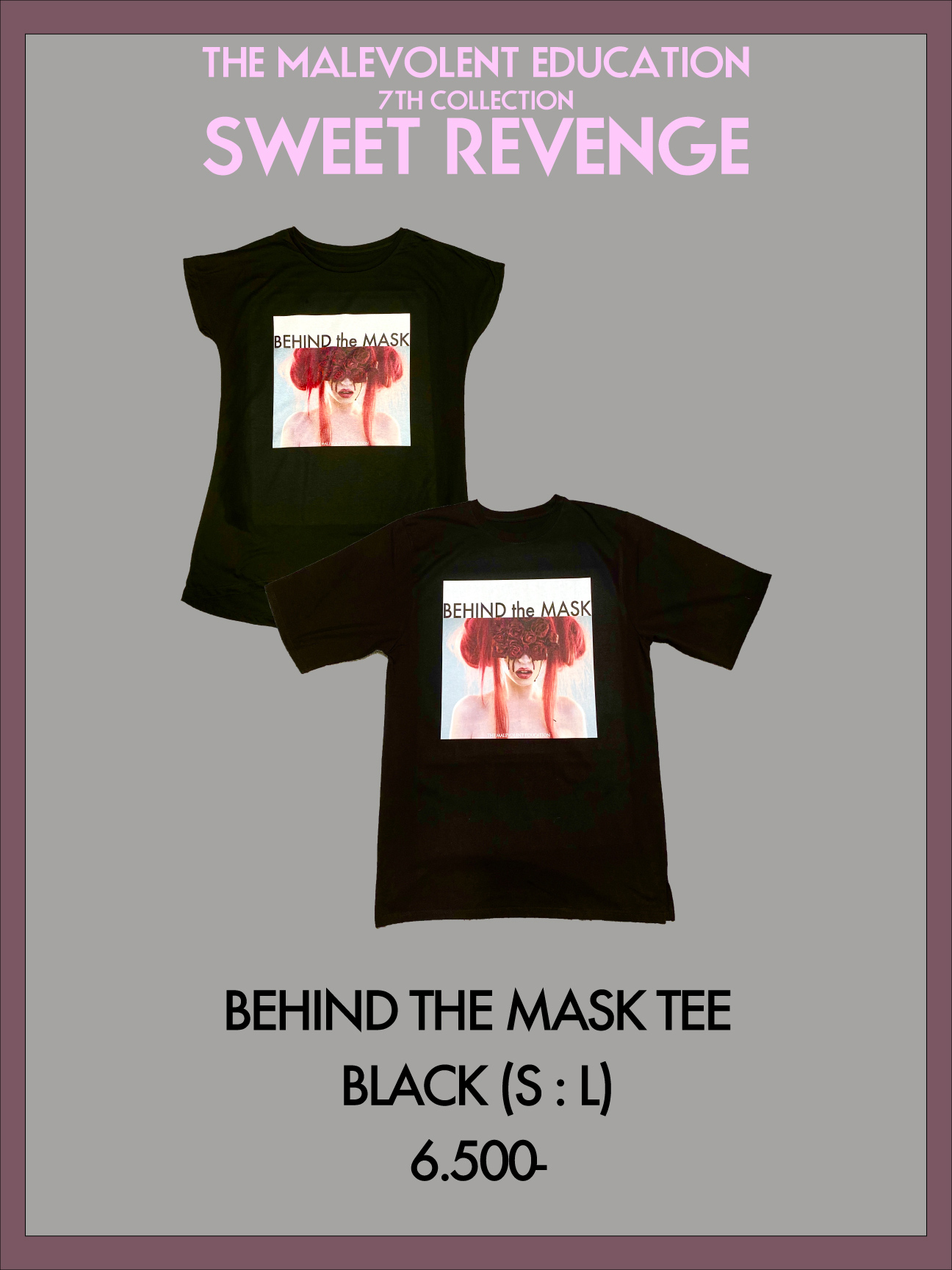 BEHIND THE MASK TEE (BLACK) S / L