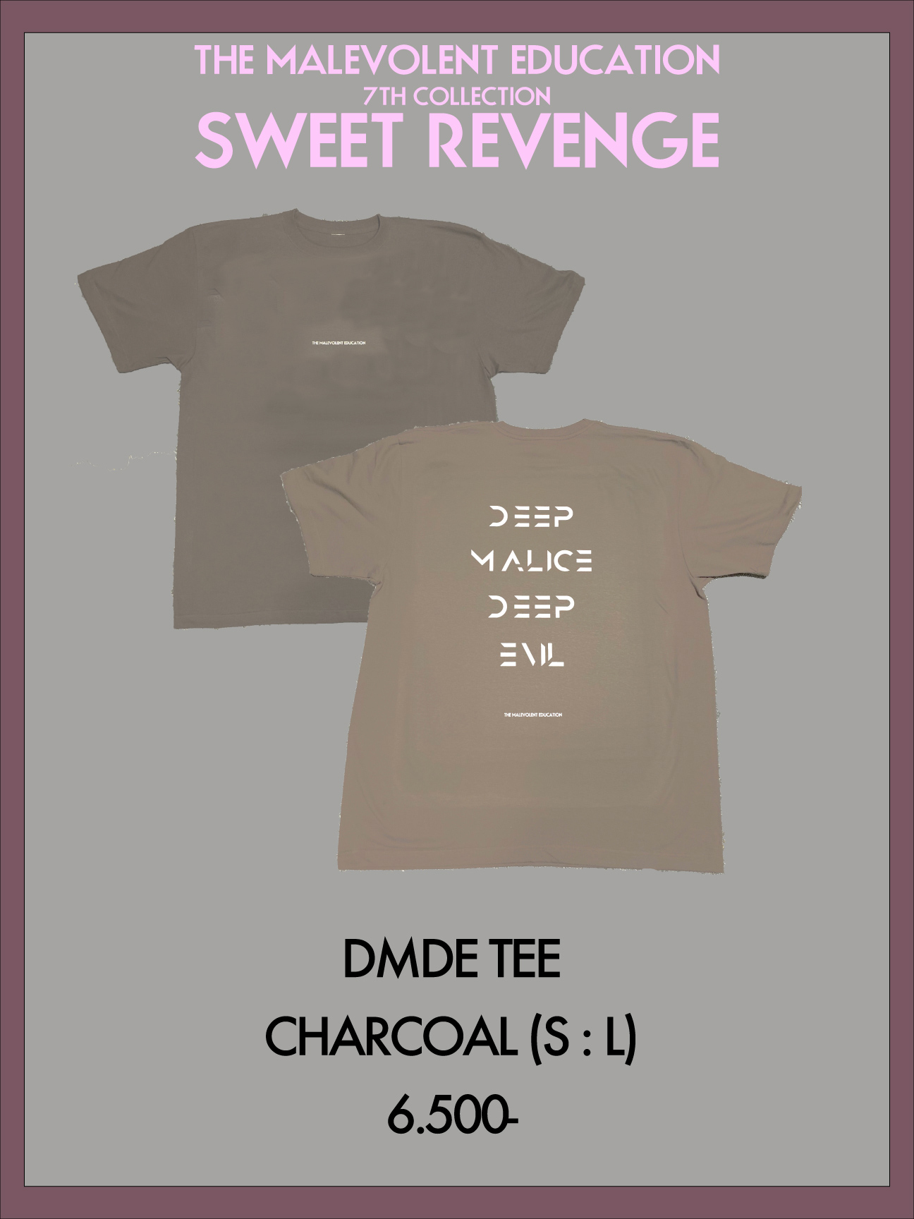 DMDE TEE (CHARCOAL) S / L