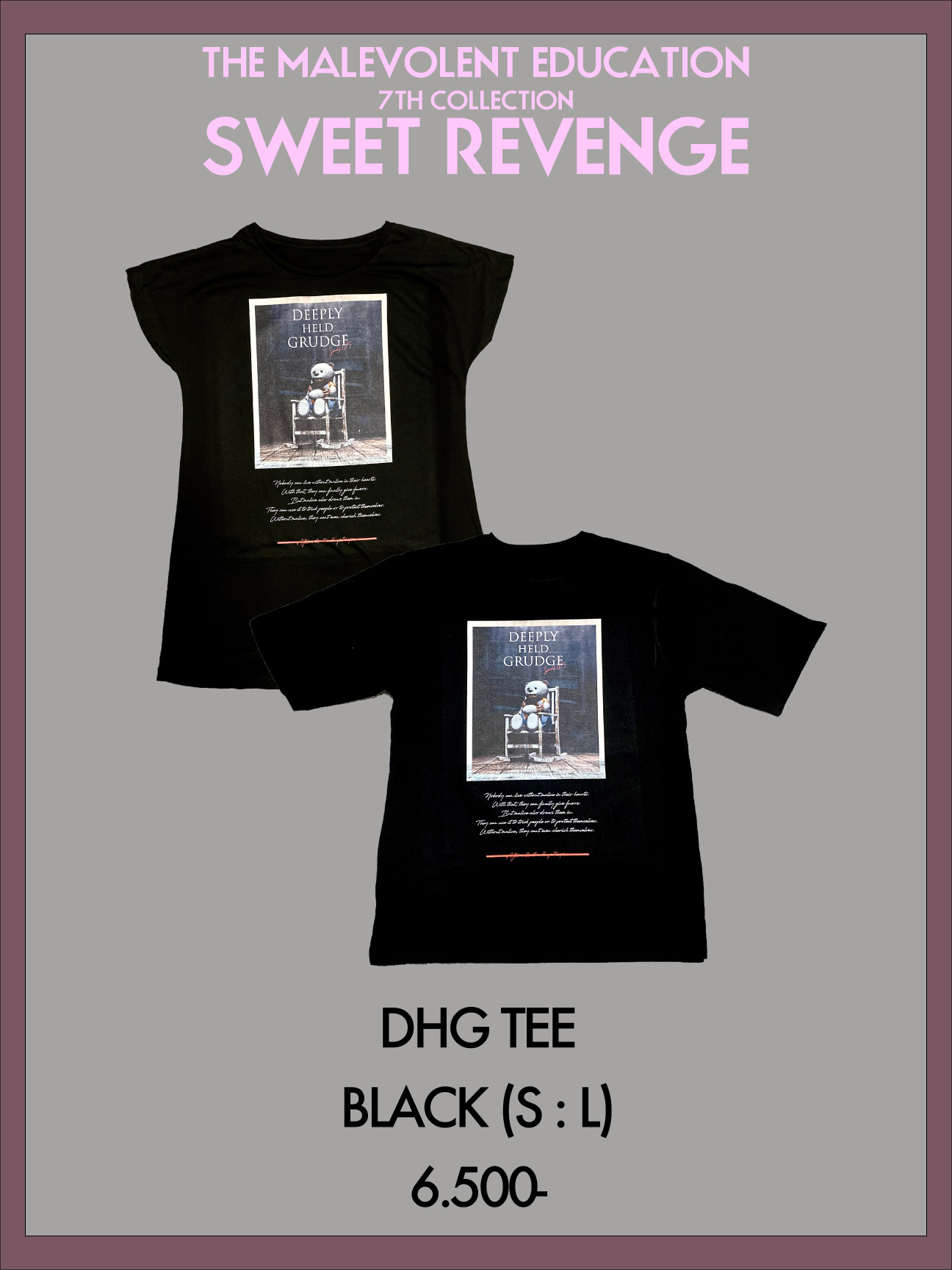 DHG TEE(BLACK) S / L