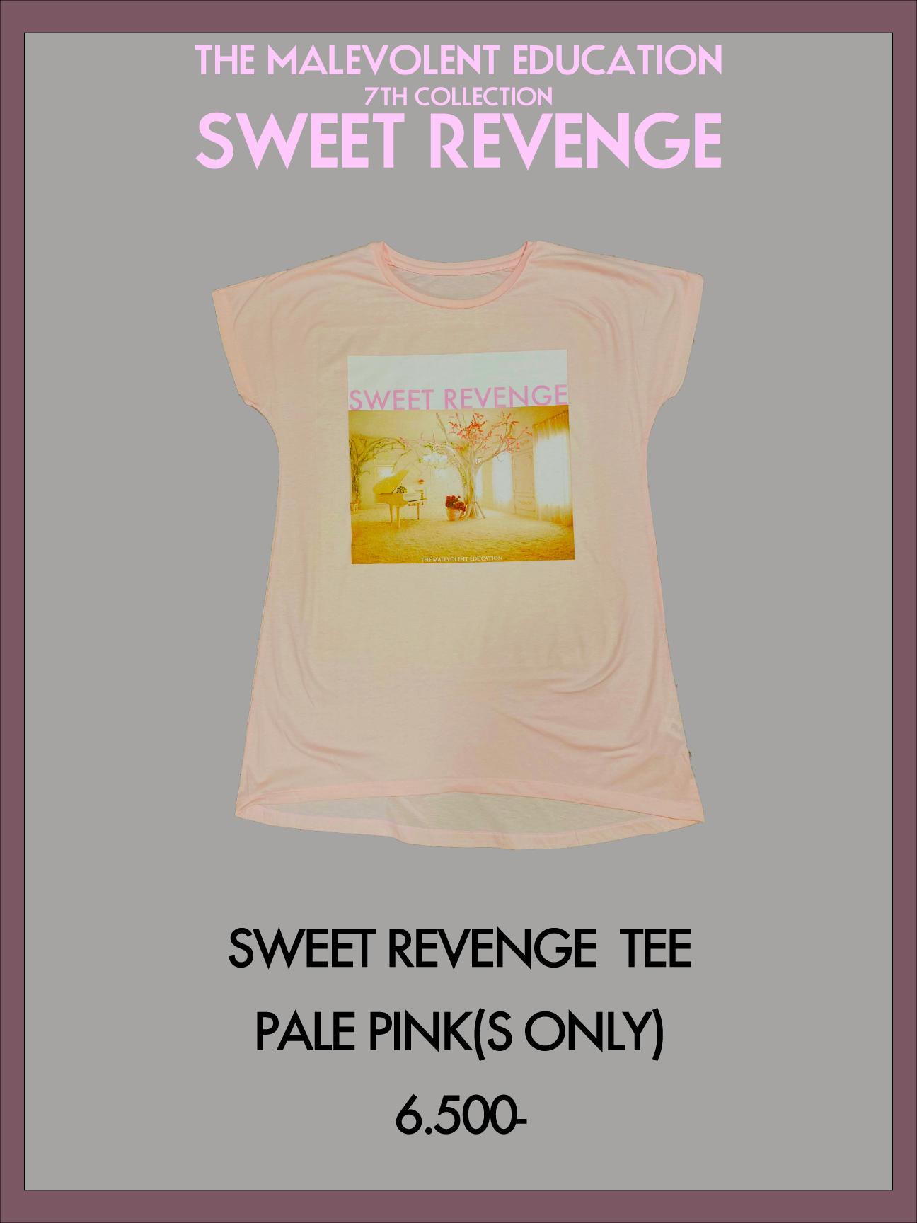 SWEET REVENGE TEE (PALE PINK)(S)
