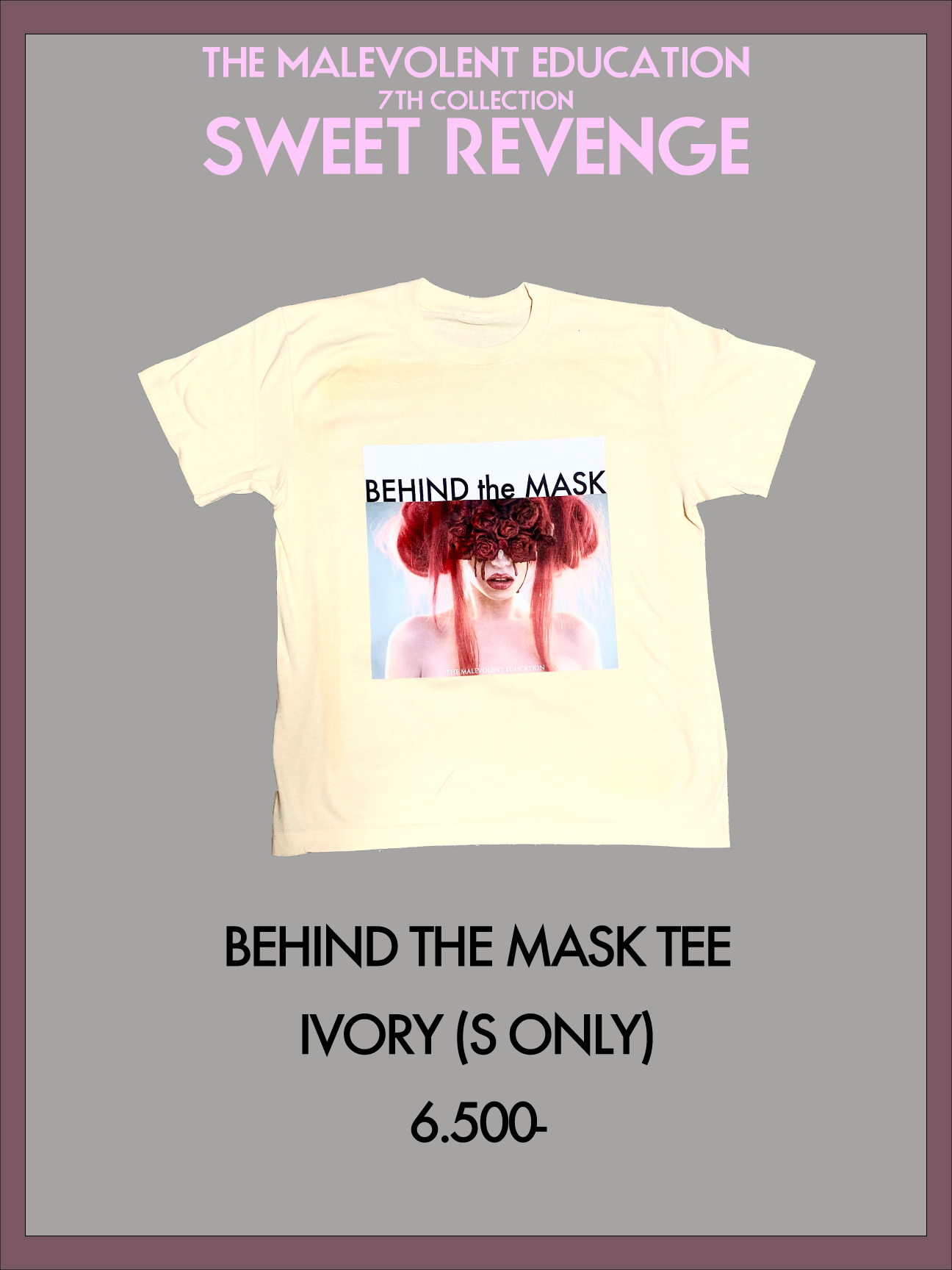 BEHIND THE MASK TEE (IVORY)(S)