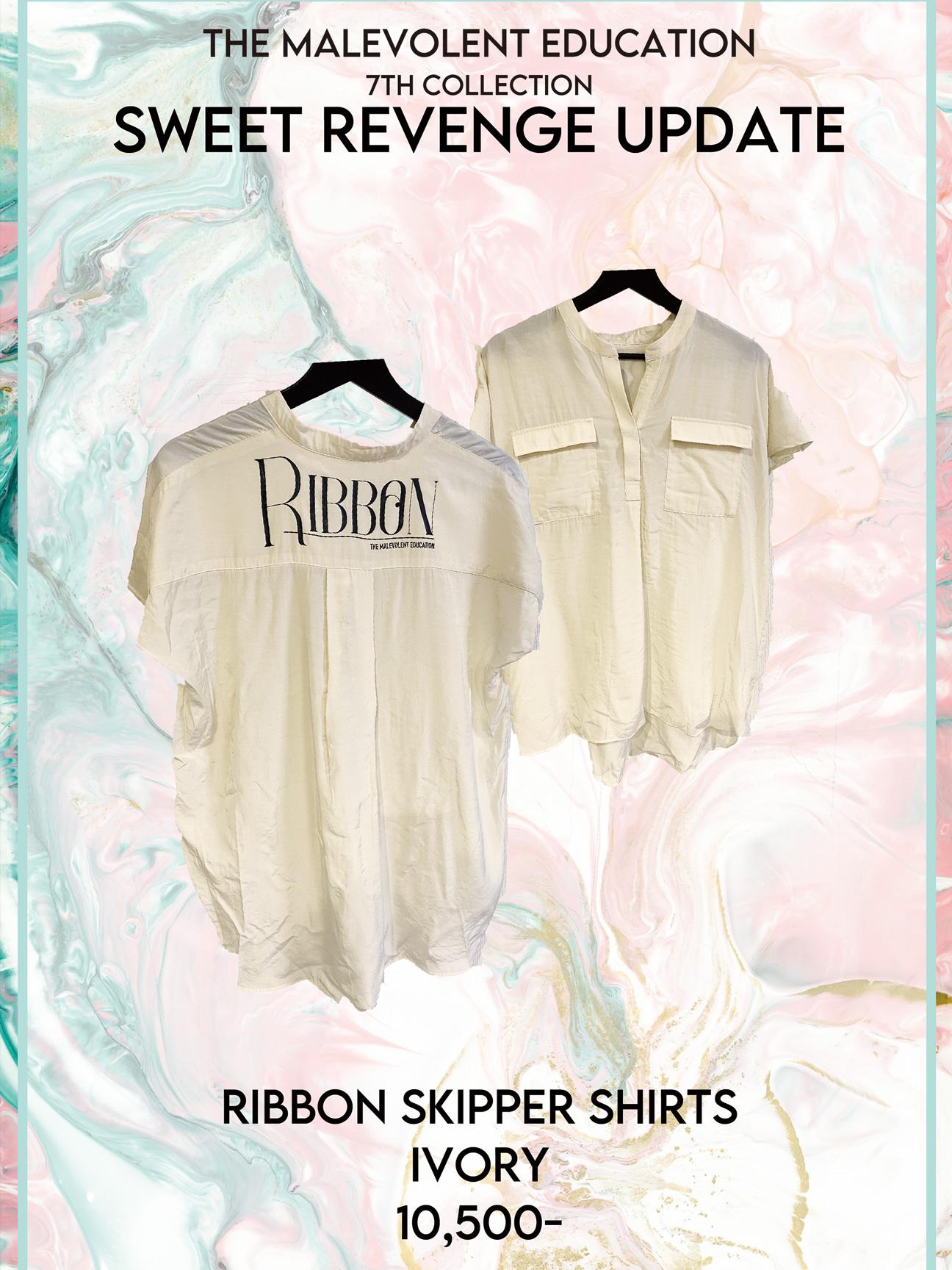 RIBBON SKIPPER SHIRTS IVORY